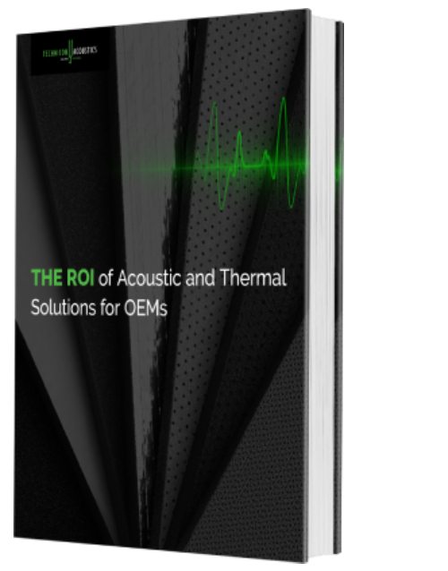 Book with title The ROI of Acoustic and Thermal Solutions for OEMs